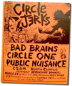la punk rock flyer 1980s