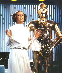 Princess Leia & C3PO on TV