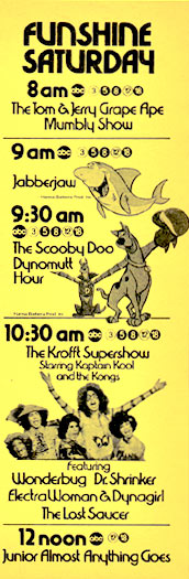 Saturday Morning TV shows 1976
