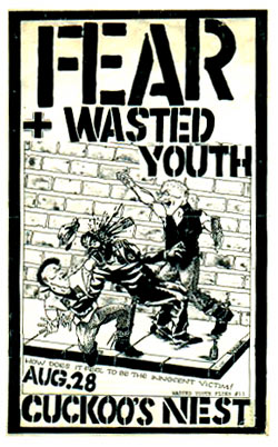 Fear : Punk flyer