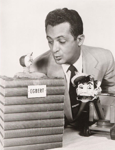 Herb Sheldon and his puppets