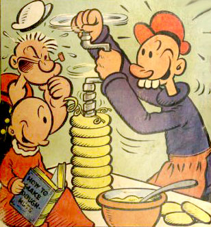 Popeye TV cartoon cast
