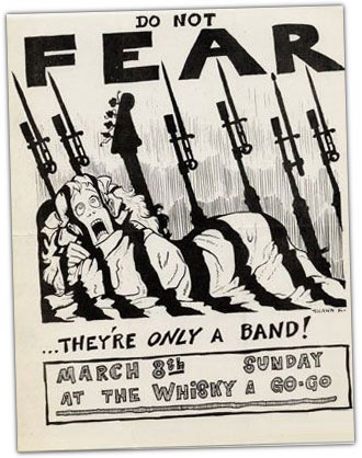 FEAR - punk rock flyer 1981