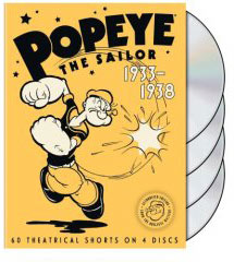 Popeye cartoons on DVD