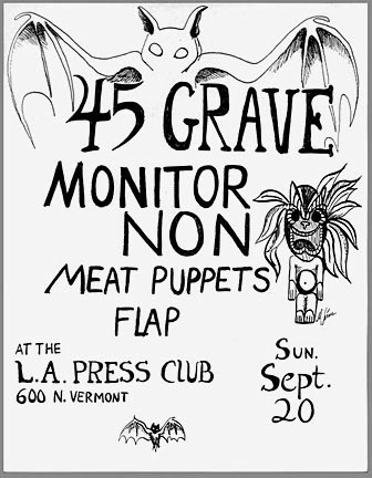 1981 punk rock flyer