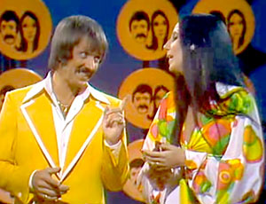 Sonny and Cher on stage