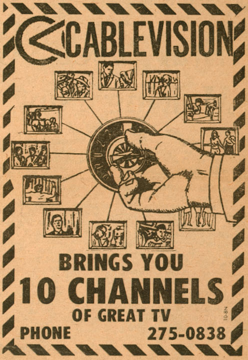 TV blof - cable TV 1973