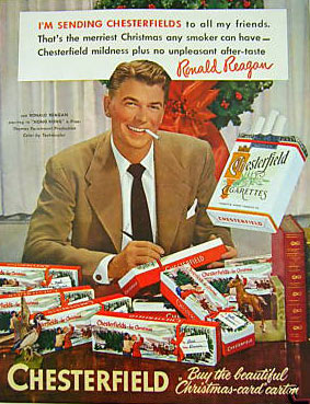 Ronald Reagan ad for chesterfields
