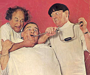 3 Stooges Curly Joe, Moe Howard
