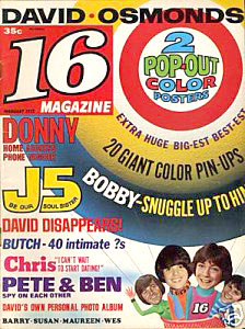 TV Blog / 1970's teen magazine with Donny Osmond & David Cassidy
