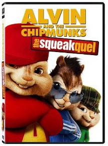 Alvin and the Chipmunks: the Squeakquel on DVD
