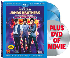 Jonas Brothers: The 3D Concert Experience on DVD