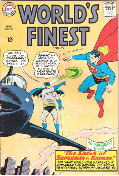 World's Finest # 153 classic comic books - DC comics cover