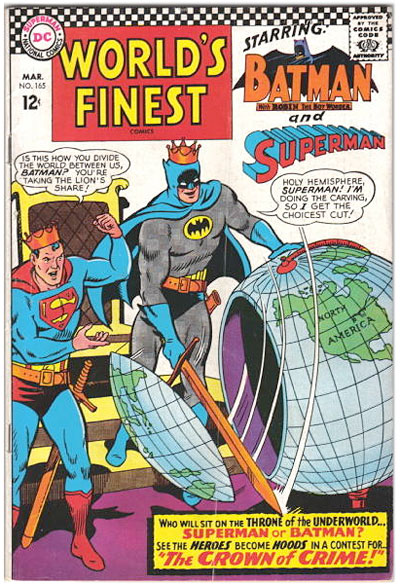 classic comic books - World's Finest # 165 /DC comics cover