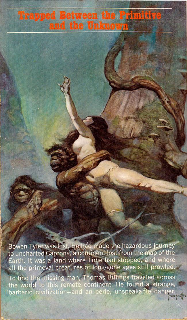 Frank Frazetta sexy ERB paperback cover