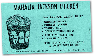1970s fast food - Mahalia Jackson Fried Chicken