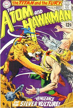 The Atom & Hawkman comic book cover by joe kubert