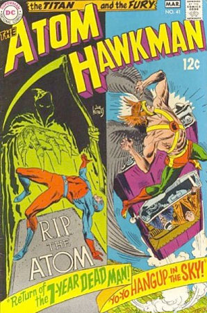 Issue # 41 / The Atom & Hawkman comic book cover by joe kubert