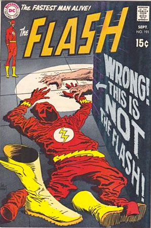 Flash / DC comic cover by Kubert