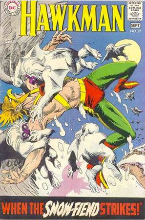 Hawkman comic book cover by joe kubert