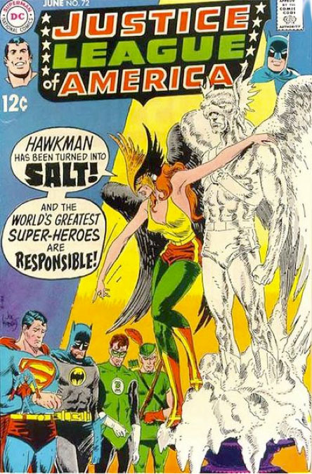 Joe Kubert Justice League cover # 72 1969
