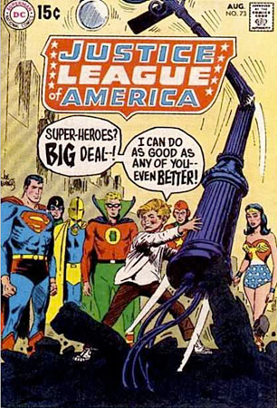 Joe Kubert Justice League of America comic book #73 cover