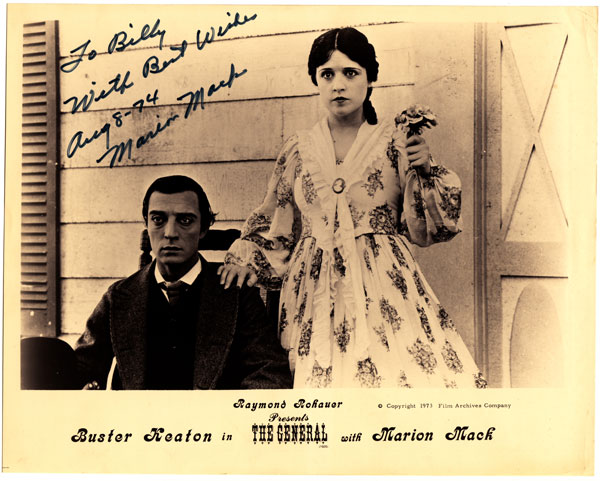 Buster Keaton & Marion Mack in The General