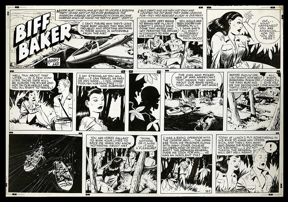 Biff Baker comic strip