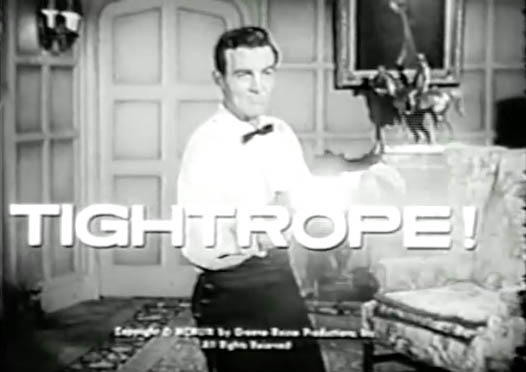 Mike Connors + Tightrope TV show 1963