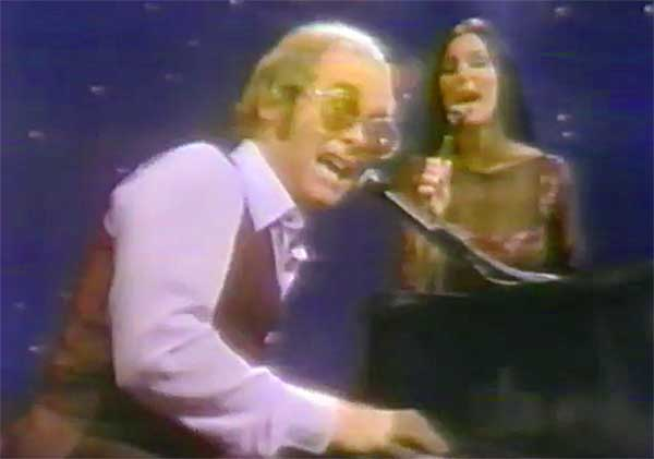 Cher and Elton John from the Cher show.