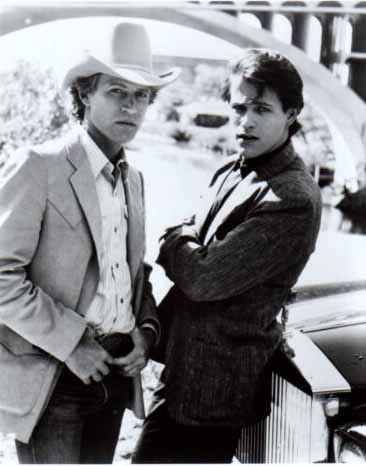 Michael Pare and Michael Beck of Houston Nights 1980s TV show