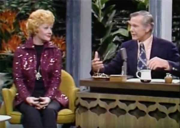 Johnny Carson interviews Lucille Ball