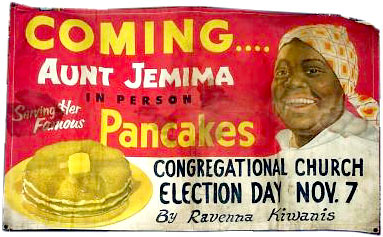 Aunt Jemima sign