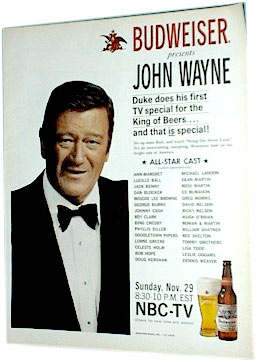 John Wayne on television