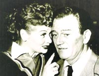 Lucy and John Wayne